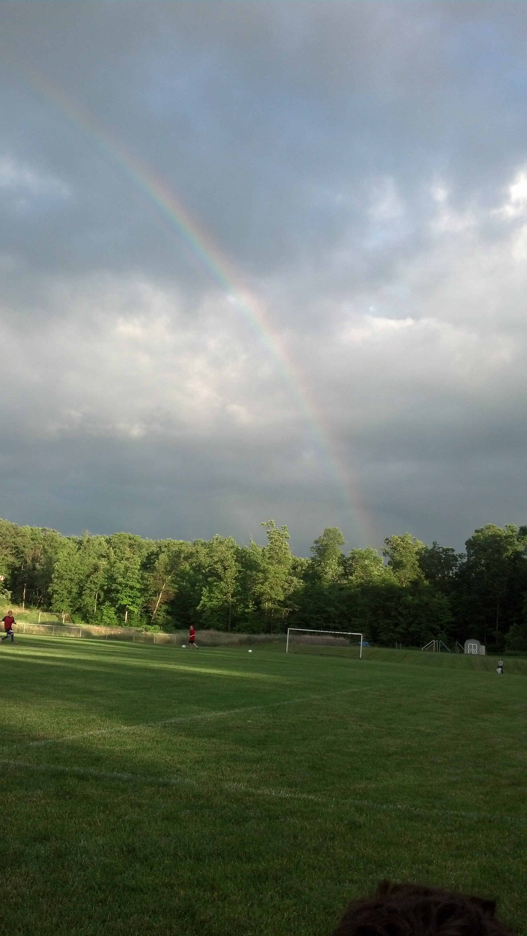 Rainbow over CO Johnson Park
